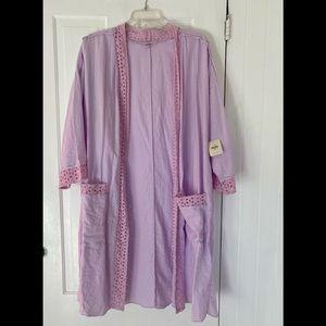NWT Free People Intimately Eyelet Robe Kimono Sz M